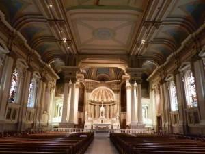 Main Sanctuary of Nativity BVM Catholic Church in Port Richmond, Philadelphia
